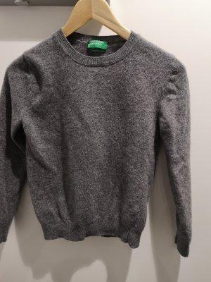 Benetton Wełniany sweter szary