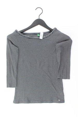Benetton Camisa de rayas negro Algodón