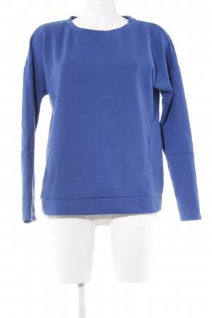 Benetton Rundhalspullover blau sportlicher Stil