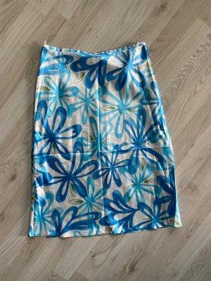 Benetton Jedwabna spódnica Wielokolorowy