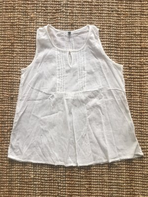 Benetton Top linea A bianco sporco
