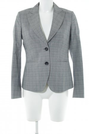 Benetton Smoking-Blazer hellgrau-türkis Karomuster Business-Look