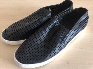 Benetton Sommer Schuhe 41 schwarz neu Slipon Slipper