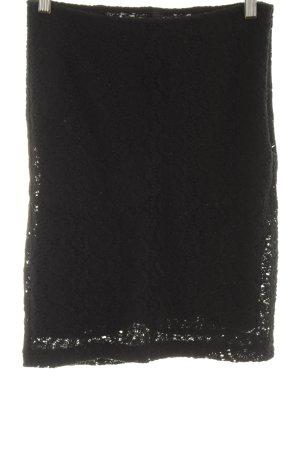 Benetton Spitzenrock schwarz Elegant