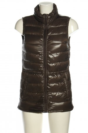 Benetton Quilted Gilet brown quilting pattern casual look