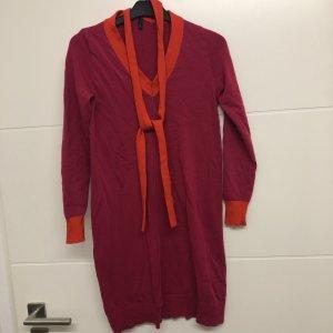 Benetton Stile Kleid Strickkleid Pink Orange