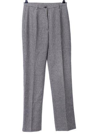 Benetton Jersey Pants white-black check pattern business style