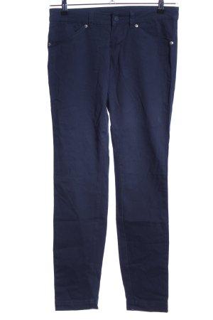 Benetton Pantalone elasticizzato blu stile casual
