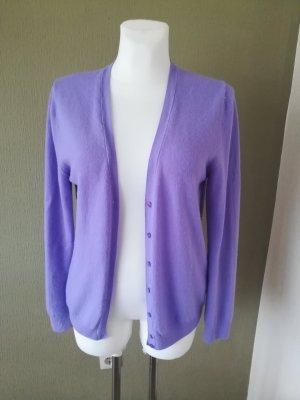 Benetton Cardigan tricotés violet laine (laine mérinos)