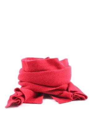Benetton Écharpe en tricot rouge style décontracté
