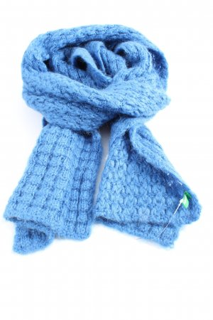 Benetton Strickschal blau Casual-Look