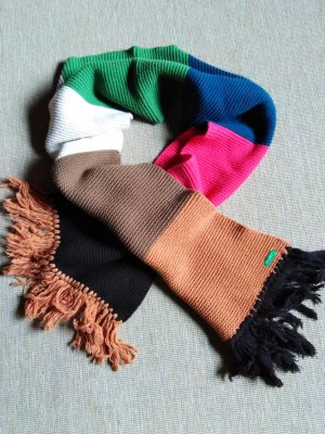Benetton Knitted Scarf multicolored