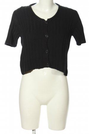Benetton Strickshirt schwarz Casual-Look