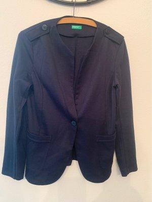 Benetton Sweat Blazer dark blue