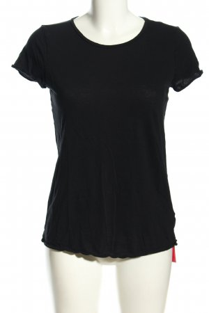 Benetton T-Shirt schwarz Casual-Look