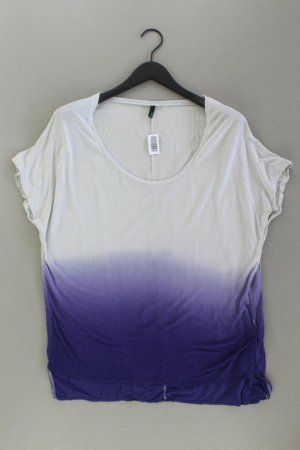 Benetton T-Shirt Größe S Kurzarm lila aus Viskose