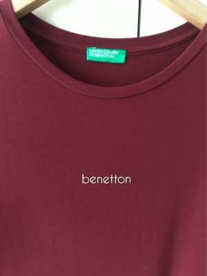 Benetton T-shirt in dunkelrot