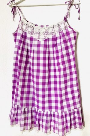 Benetton Tunic lilac-white cotton
