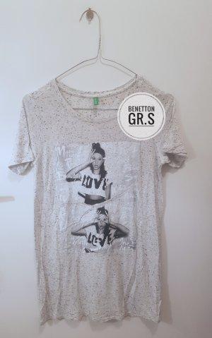 Benetton T-shirt grigio chiaro