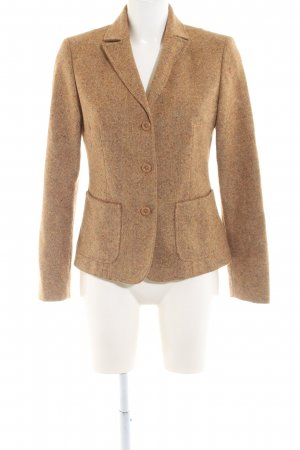 Benetton Tweedblazer braun meliert Business-Look