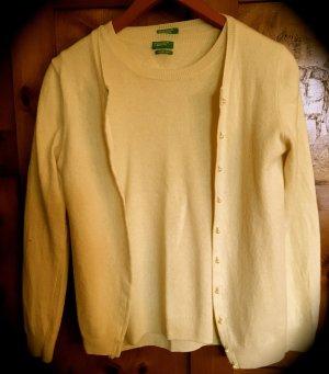 Benetton Sweater Twin Set yellow