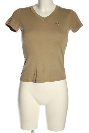 Benetton V-Ausschnitt-Shirt braun Casual-Look