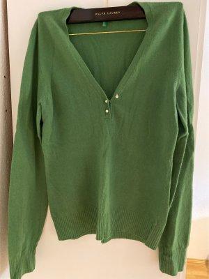 Benetton V-Ausschnitt Wollpullover