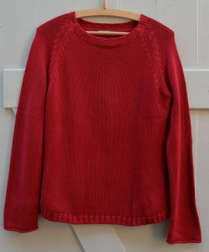 Benetton Vintage Pullover 90er Jahre reine Baumwolle Strick rot Gr. M