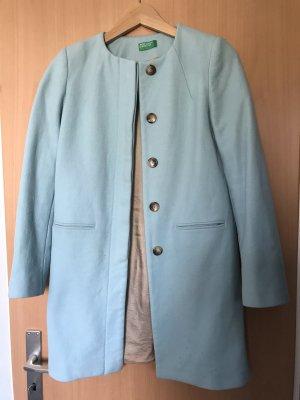 Benetton Long Jacket light blue