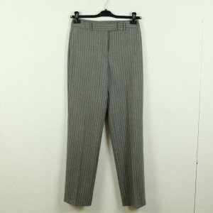 Benetton Pantalón de lana gris claro-blanco Lana
