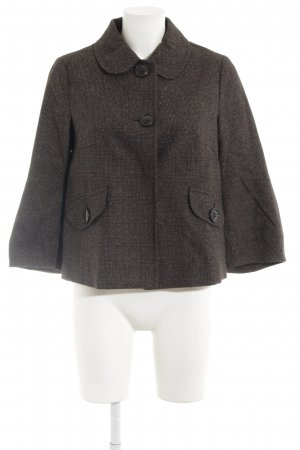 Benetton Wolljacke Glencheckmuster Casual-Look
