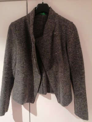 Benetton Wool Jacket grey-dark grey