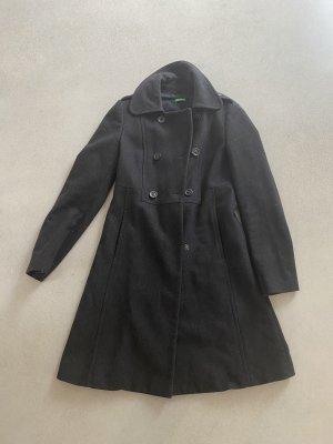 United Colors of Benetton Wool Coat dark grey