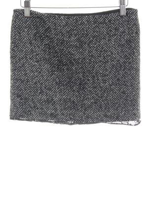 Benetton Wollrock schwarz-wollweiß Zackenmuster schlichter Stil