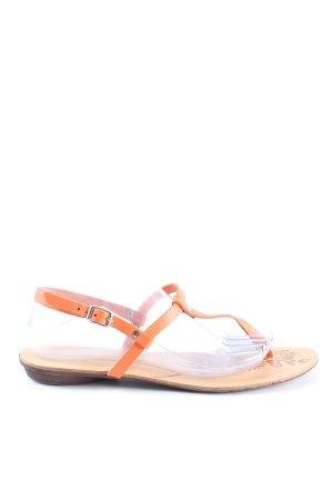 Benetton Sandalo toe-post arancione chiaro stile casual