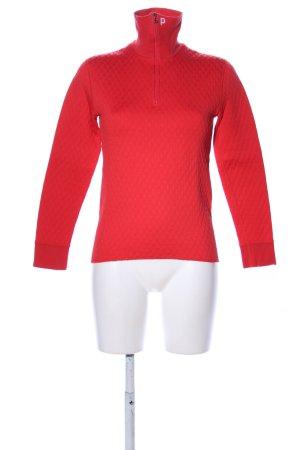 benger Maglione dolcevita rosso motivo trapuntato stile casual