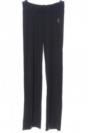 benger Pantalone jersey nero-oro stile casual