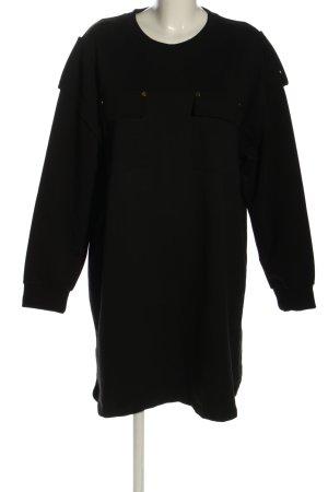 Benin Style Vestido tipo jersey negro look casual