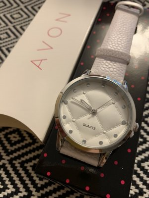 Avon Watch With Leather Strap pink