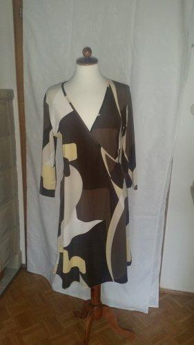 Gina Benotti Vestido elástico marrón-amarillo claro