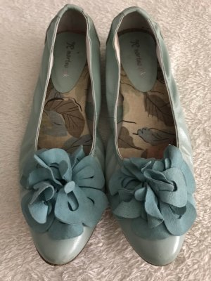 martina pink Foldable Ballet Flats pale blue-turquoise