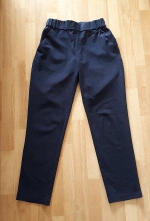 Bequeme dunkelblaue Zara Hose mit elastichem Bund