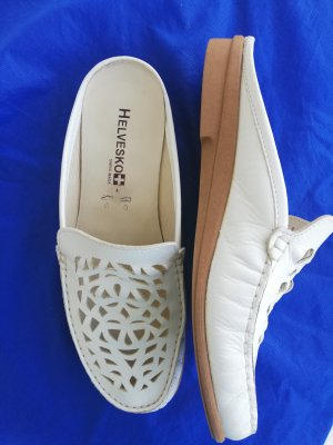 Helvesko Sabots natural white leather