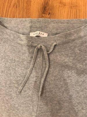 Sandro Pantalon de jogging gris clair coton