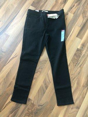 Bequeme Hose von Levi's 311 Shaping Skinny schwarz Größe W29/L28 Short, NEU!