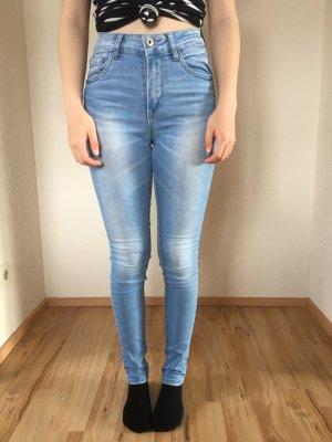 Colloseum Jeansy z wysokim stanem błękitny
