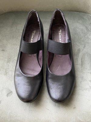 Tamaris Ballerines à lacets noir