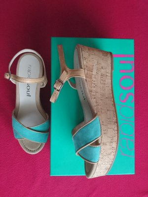 Rapidsoul Wedge Sandals light brown-mint