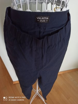 Via appia due Pantalone elasticizzato blu scuro