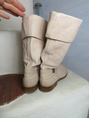 oXs Slouch Boots natural white leather